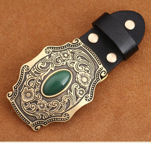 1 Flower embossed Solid brass Belt Buckle Luxury Cowboy Buckles Fit 4cm Wide Belt Man,women Clothes Pants Accessories