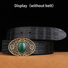 将图片加载到图库查看器,1 Retail New High quality Solid brass belt buckles 74X49mm Rectangle metal cowboy Belt head Fit 4cm Wide Belt men women Best gift