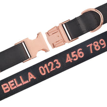 将图片加载到图库查看器,91 Personalised Dog Collar Custom Engraved or Embroidered Puppy Collars Male Female