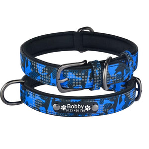 99 Dog Collar Personalized Engraved ID Name Reflective Camouflage Nylon XS-L Customized Dog Collar Id Name Phone Number Tag
