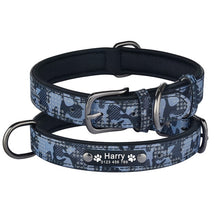 Load image into Gallery viewer, 99 Dog Collar Personalized Engraved ID Name Reflective Camouflage Nylon XS-L Customized Dog Collar Id Name Phone Number Tag