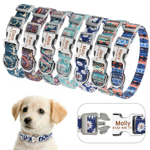 99  Small Large Personalized Dog Collar Custom Engraved Name ID Tag Boy Girl Dogs Unisex Dog Collar