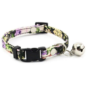 8.2 1Floral Collar for Small Dogs with Bell Fashion Dog Collar For Puppies Cats Female Dog Accessories Supplies Pet Products