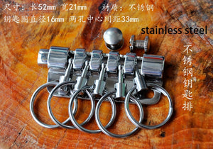 DIY leather craft super quality solid brass stainless steel disassemble key ring 5 round ring buckle