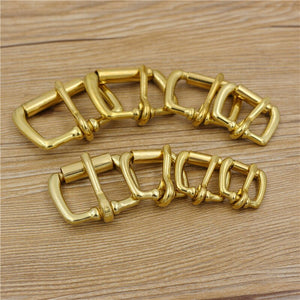 solid brass material leather craft belt metal buckle DIY bag backpack accessories 5pcs/lot