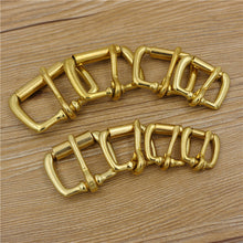 Load image into Gallery viewer, solid brass material leather craft belt metal buckle DIY bag backpack accessories 5pcs/lot
