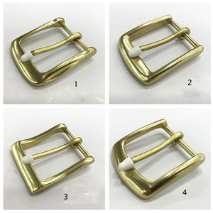 DIY leather craft women men belt pin buckle solid brass material 5pcs/lot wholesale inner 40mm