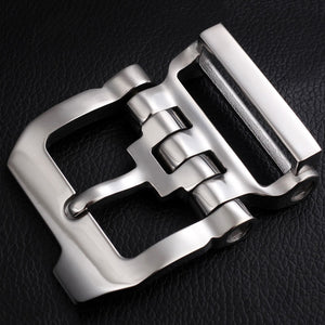 Stainless steel 40mm inner width man leather craft tactical belt buckle hardware accessories