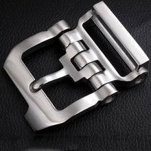 将图片加载到图库查看器,Stainless steel 40mm inner width man leather craft tactical belt buckle hardware accessories