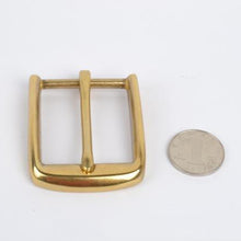 将图片加载到图库查看器,DIY leather craft hardware accessories solid brass pin belt buckle 39mm inner diameter 3pcs/lot