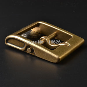 vintage solid brass material belt pin buckle  inner 40mm