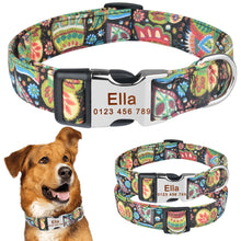 Load image into Gallery viewer, 92 Adjustable Personalised Dog Collar Pet Custom Engraved NameTag ID Collars S M L