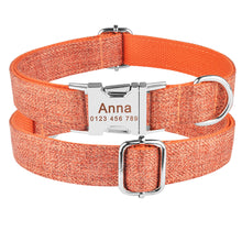 Load image into Gallery viewer, 91 Nylon Personalised Dog Collar Boy Girl Pet Name ID Laser Engraved Quick Release