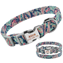 Load image into Gallery viewer, 92 Small Large Dog Collar Personalised Male Female Pet Custom Engraved Name ID Tags