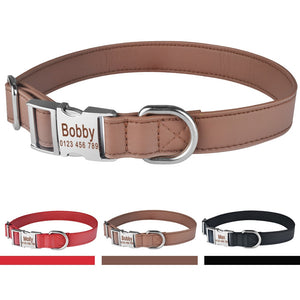 95 Personalized Dog Collar Soft Padded Leather Durable Name Engraved Boy Girl Dogs