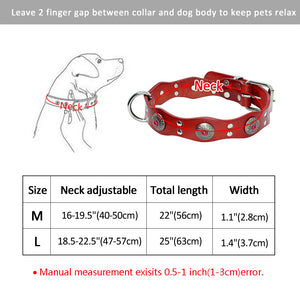 8 Durable Genuine Leather Dog Collar Handmade Adjustable Pet Basic Collars Black Brown For Medium Large Dogs Pitbull