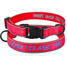 Load image into Gallery viewer, 96 Embroidered Dog Collar Persoanzlied Name Number Reflective Small Large Pets S-L
