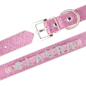 99 Personalized Dog Collar Leather Rhinestone Bling Charms Custom Pet Dogs Cat Name