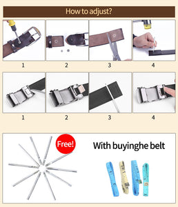 2 Belts for Female Women Cowskin Genuine Leather Strap Fashion Simple Pin Buckle Adjustable Thin Waistband Dress Jeans