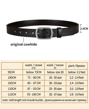 Load image into Gallery viewer, 2 High Quality Genuine Leather Waist Strap Belt Female Square Pin Metal Buckle Belts Women's Belts for Jeans