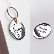 将图片加载到图库查看器,5 Personalized Cat Dog ID Tag MW002 Artistic Font Double Sided Engraved For Small Medium Large Pet Dog Collar Accessories Tags