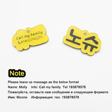 将图片加载到图库查看器,8.2 Personalized Dog Tag Handmade Acrylic Pet ID Tag for Dogs Puppies Colorful Name Tags for Cats Kitten Pendent Collar Accessories