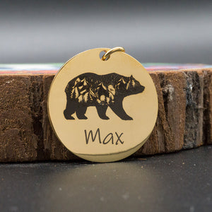8.2 Custom Dog ID Tag Engraved Retro Personalized Name ID Tag For Dogs Cats Puppies Round Metal Nameplate Pet Products