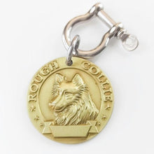 Load image into Gallery viewer, 5 Personalized Brass Dog ID Tag MW008 Front 3D Model Dogs Breed Image Back Laser Deep Carving Custom Labrador American Bully