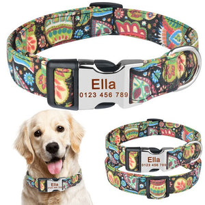 99 Personalized Dog Collar Free Engraved Small Medium Name Puppy Polyester Collars