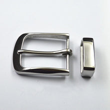 将图片加载到图库查看器,40mm Men's solid Stainless Steel Pin Belt Buckle + Belt loop Belts Clip DIY leather Craft accessories for belt width 38-39mm