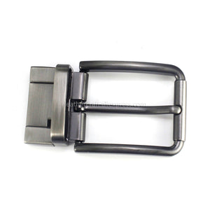 6 1pcs 35mm Metal Brushed Men Belt Buckle Matte brown Clip Buckle Rotatable Bottom Single Pin Half Buckle Leather Craft Belt Strap