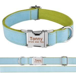 99 Dog Collar Adjustable Personalized Durable Nylon Free Engraved ID Name Boy Girl Collar Perro Chihuahua