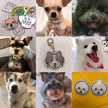 将图片加载到图库查看器,8.2 Personalized Dog Tag With Icon Handmade Acrylic ID Tag for Dog Collar Puppies Adorable Nameplate Pendent Pet Products