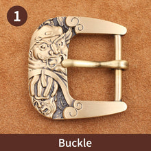 将图片加载到图库查看器,0 Solid brass Metal Belt Buckles Fashion Men Women 40mm Pin Buckle For 3.8-3.9cm Belts DIY Leather Craft Jeans Accessories
