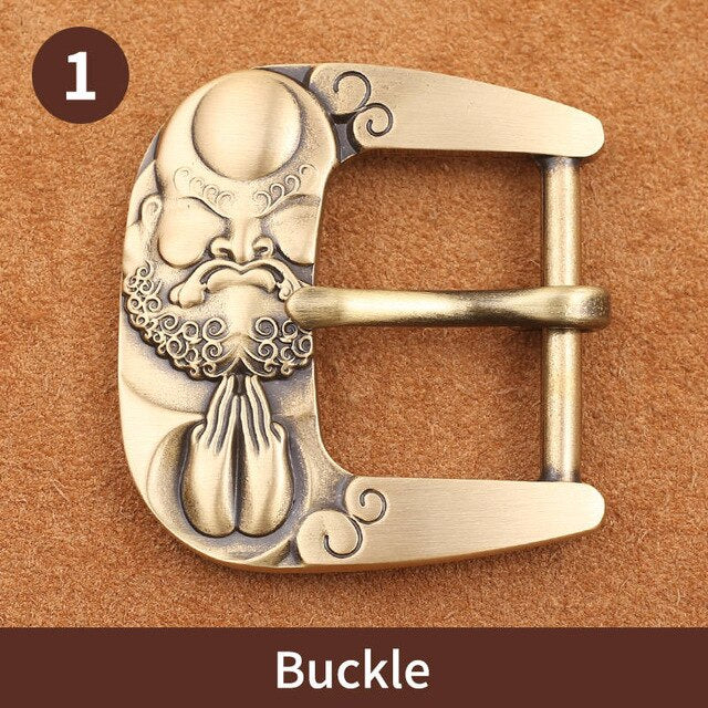 0 Solid brass 40mm Pin Belt Buckle Men's Metal Clip Buckle DIY Leather Craft Jeans Accessories Supply for 3.8cm-3.9cm Wide Belt