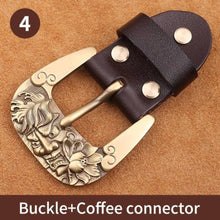 将图片加载到图库查看器,0 40mm Width Solid brass Belt Buckle Men's Metal Pin Buckle Cowboy Buckle Jeans Accessories DIY Leather Craft Hardware