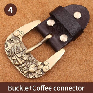 0 40mm Width Solid brass Belt Buckle Men's Metal Pin Buckle Cowboy Buckle Jeans Accessories DIY Leather Craft Hardware
