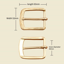 将图片加载到图库查看器,0 Solid brass 4cm vintage carve pattern beautiful metal women men DIY leather craft belt buckle set 2pcs parts/set