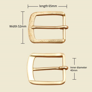 0 Solid brass 4cm vintage carve pattern beautiful metal women men DIY leather craft belt buckle set 2pcs parts/set