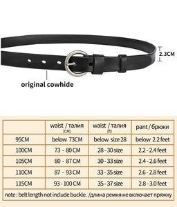 2 Newest Round Pin Buckle Belts for Women Female Leisure Jeans Women Cowskin Genuine Leather Belt Vintage Strap Waistband Jeans