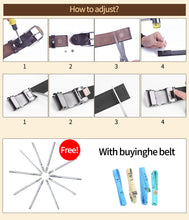 将图片加载到图库查看器,2 Fashion Women Cowskin Genuine Leather Belt Solid Brass Pin Buckle Belts for Women Jeans Female Straps All-Match Accessory