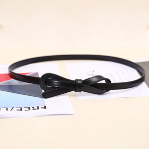 2 Women Genuine Leather Belt Delicate Belts for Women Ladies Fashion Woman Girl Thin Strap Waistband For Dress Coat Jeans