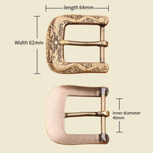 Load image into Gallery viewer, 1 Solid brass Men Belt Buckle 40mm Metal Pin Buckle Fashion Jeans Waistband Buckles For 3.8cm Belt DIY Leather Craft Accessories