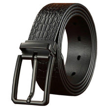 Load image into Gallery viewer, 4 Genuine Luxury Leather Belts for Men  Metal Pin Buckle Strap Male Casual Jeans Cowskin Waistband