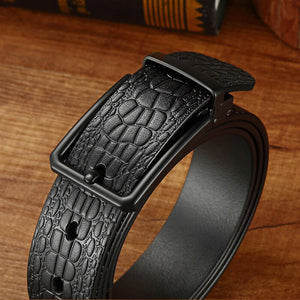 4 Genuine Luxury Leather Belts for Men  Metal Pin Buckle Strap Male Casual Jeans Cowskin Waistband