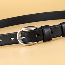 Load image into Gallery viewer, 2 Hot Sale High Quality Women Genuine Leather Thin Belt Fashion Newest for Jeans Ladies Female Strap Pin buckle Waistband