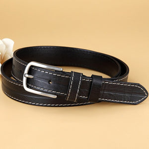 2 Belts for Women Fashion Female Genuine Leather Waist Belt Pin Buckle Vintage Women Designer Belts Strap Gifts 2.8cm Width