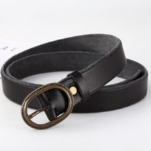 将图片加载到图库查看器,2 High Quality Belt For Women Waistband Cowskin Genuine Leather Lady Belt Vintage Pin Buckle Fashion Woman Jeans Girdle Female