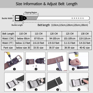 3 Genuine Leather Men Belts 3.8cm Width Cowskin Leather Belt For Men Business Male Belts Strap Husband Gifts