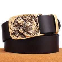 Load image into Gallery viewer, 3 Cowskin Belt Men Accessories Cowboy Genuine Leather Belts For Men Vintage Pin Buckle Mens Belts Gift For Man